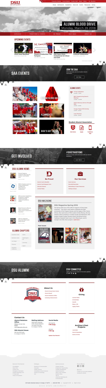 Alumni Portal, Desktop View