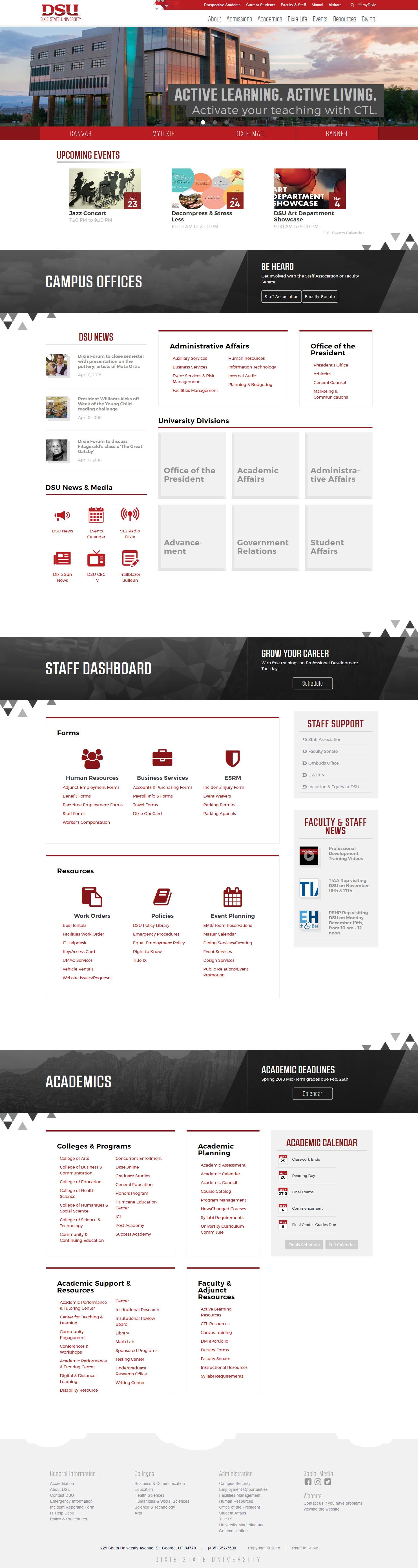 Employee Portal, Desktop View