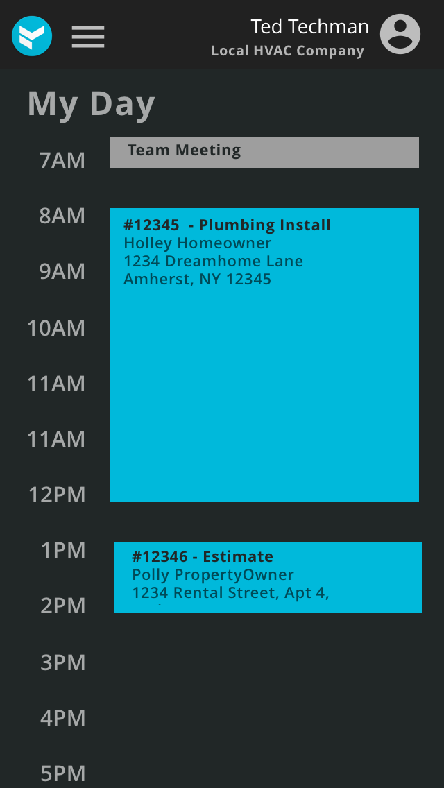 Viewing Personal Schedule,mobile, v3