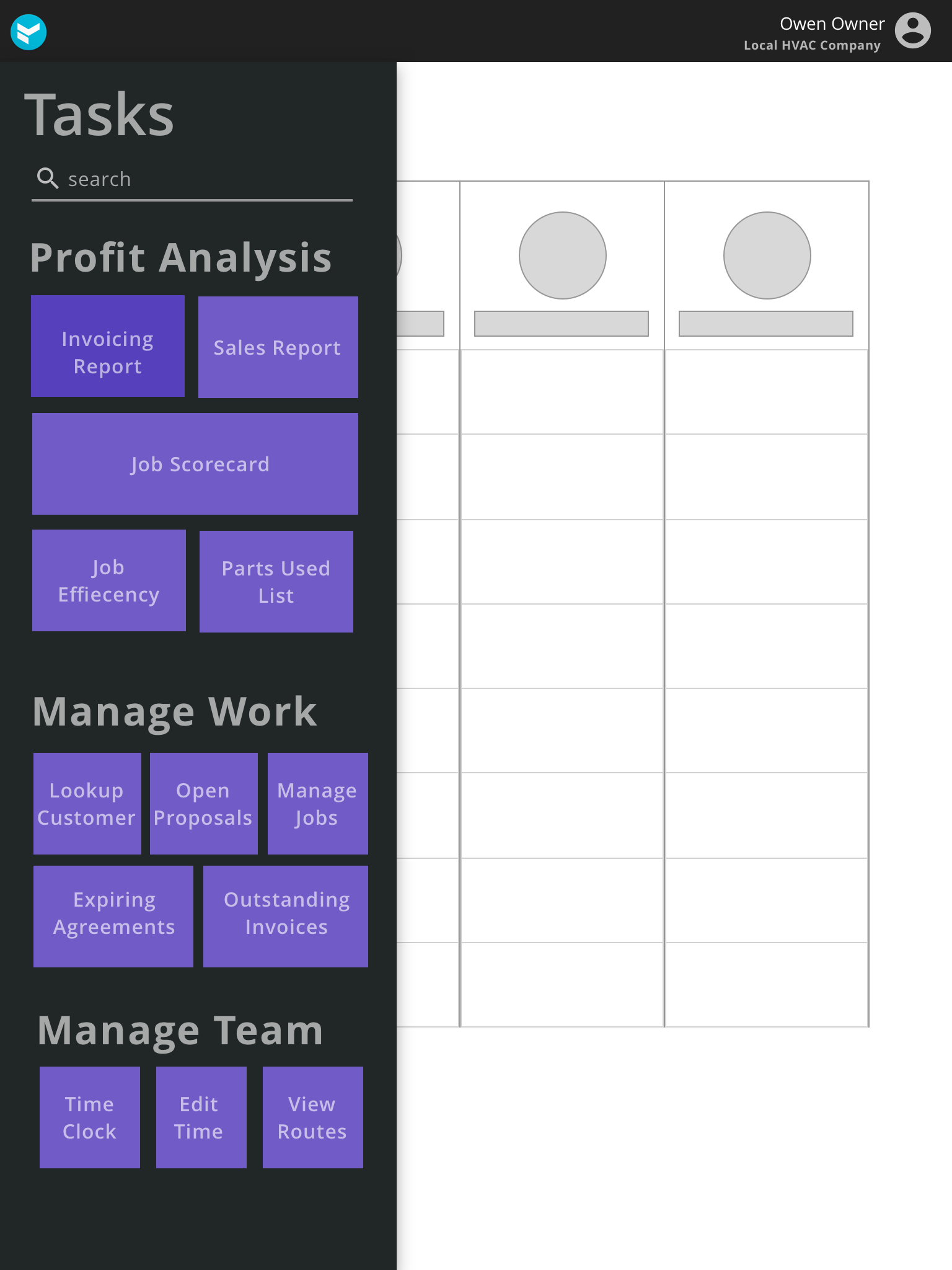 Metro style task groups, tablet view, v1